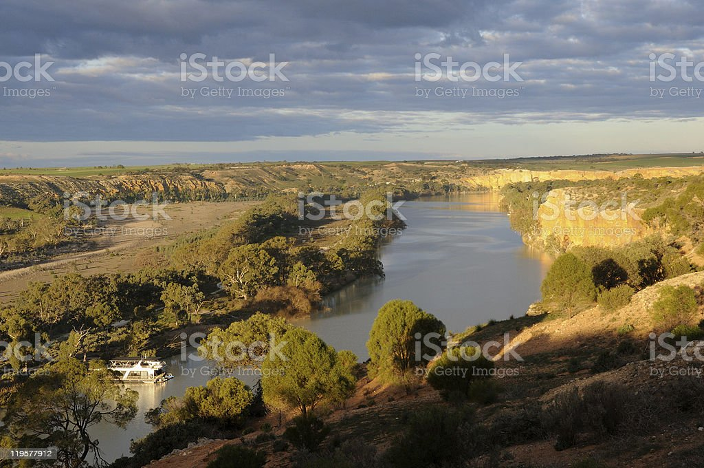 Late afternoon At Walker Flat. River Murray, South Australia. stock photo