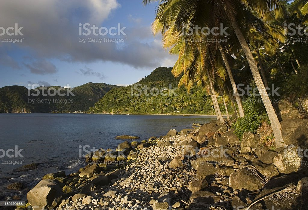 Late Afternoon on Saint Lucia royalty-free stock photo