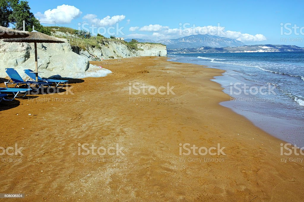 late afternoon on xsi beach, Kefalonia stock photo