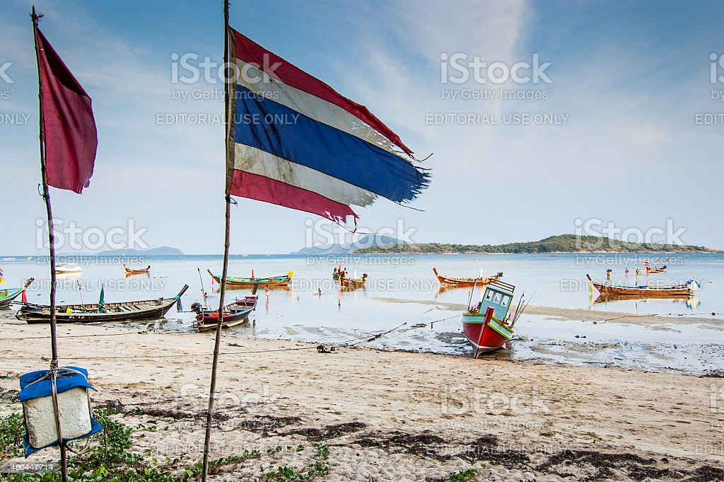 Late afternoon, Rawai Beach, Phuket, Thailand stock photo
