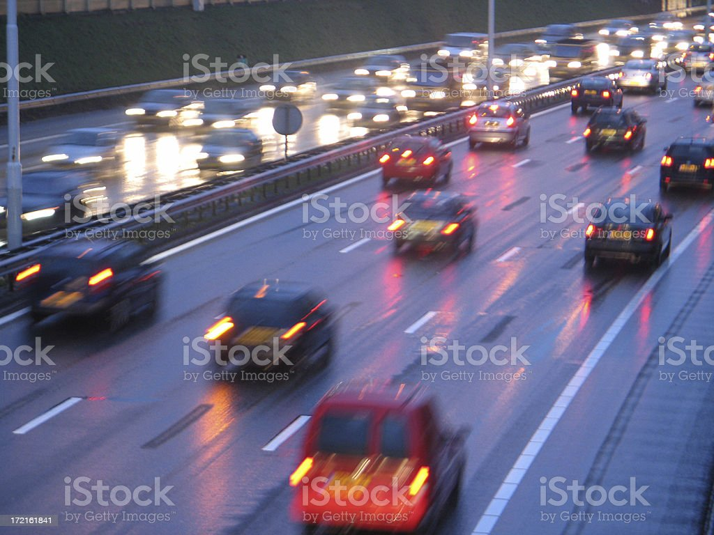 Late afternoon traffic royalty-free stock photo