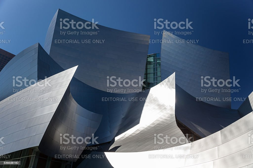 Late afternoon view of Walt Disney Concert Hall stock photo