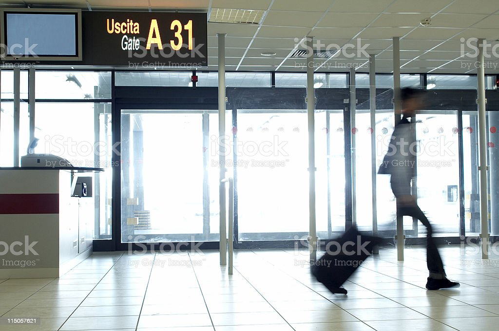 Late at the Gate royalty-free stock photo