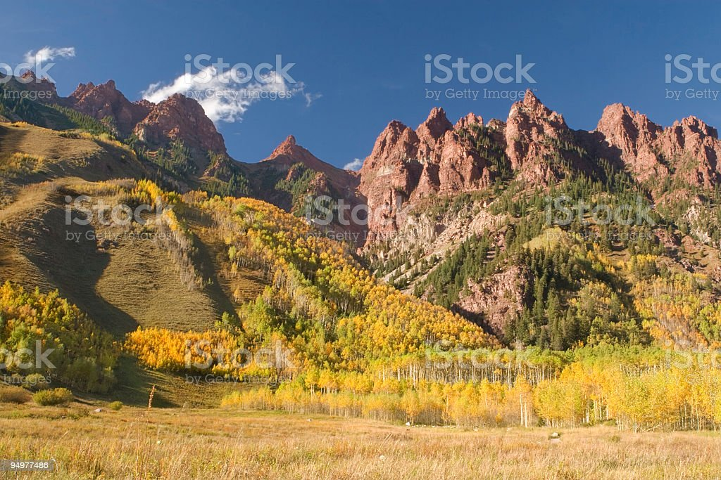 Late Autumn Afternoon & Cathedral Peaks royalty-free stock photo