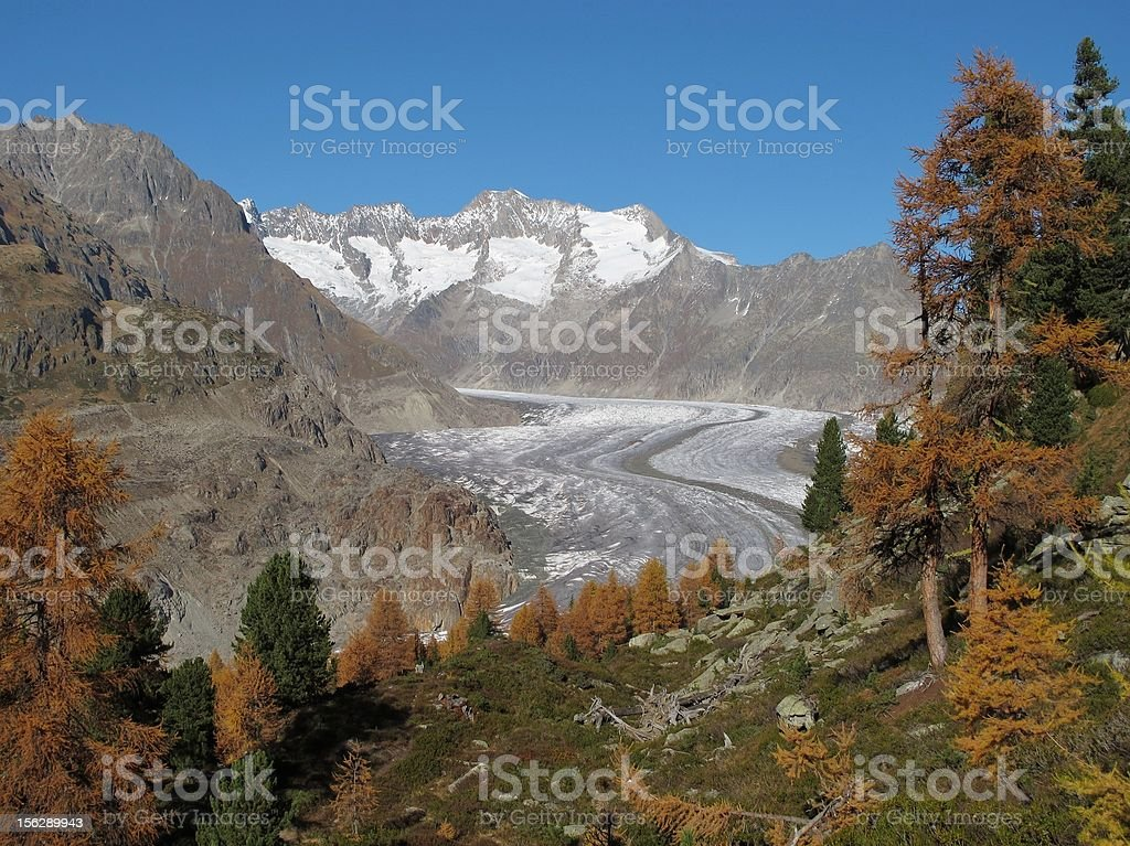 Late Autumn In The Aletsch Area stock photo