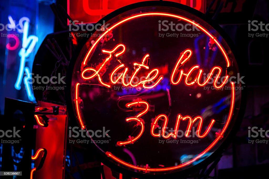 Late Bar 3am stock photo