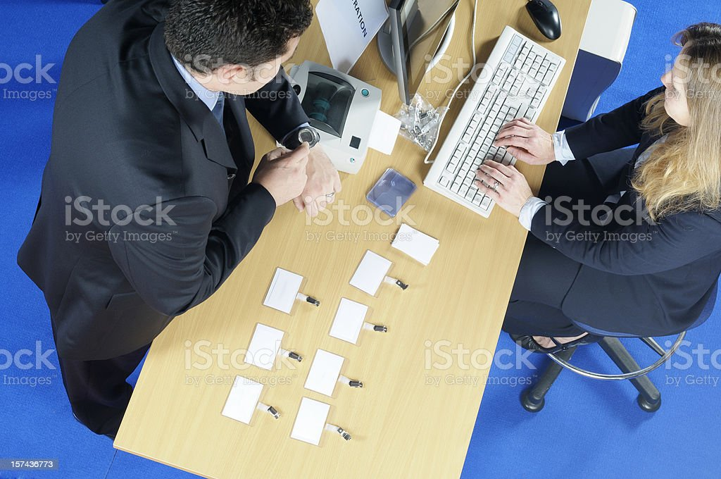 Late Conference Registration stock photo