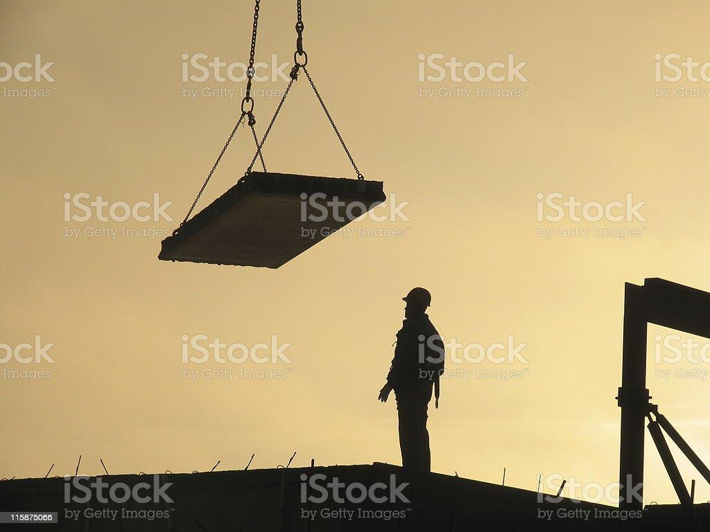Late constructing stock photo