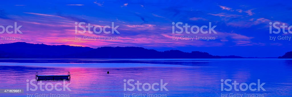 Late evening blue royalty-free stock photo