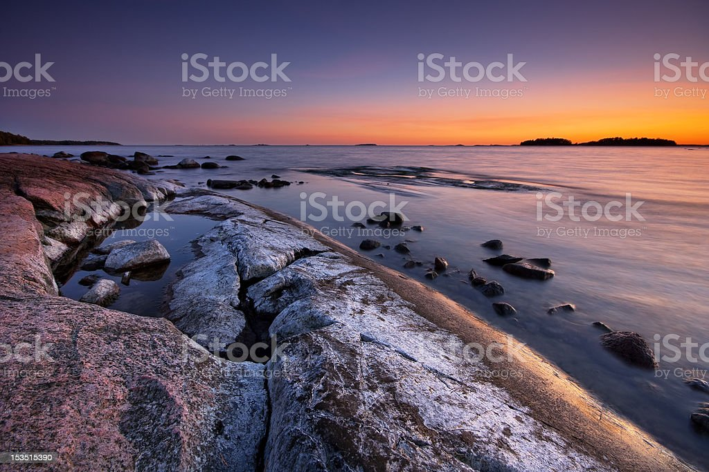 Late evening landscape after sunset royalty-free stock photo