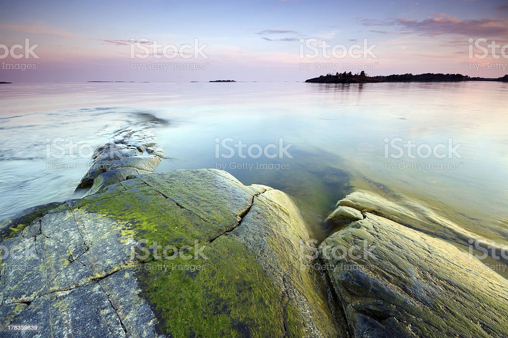 Late evening seascape stock photo