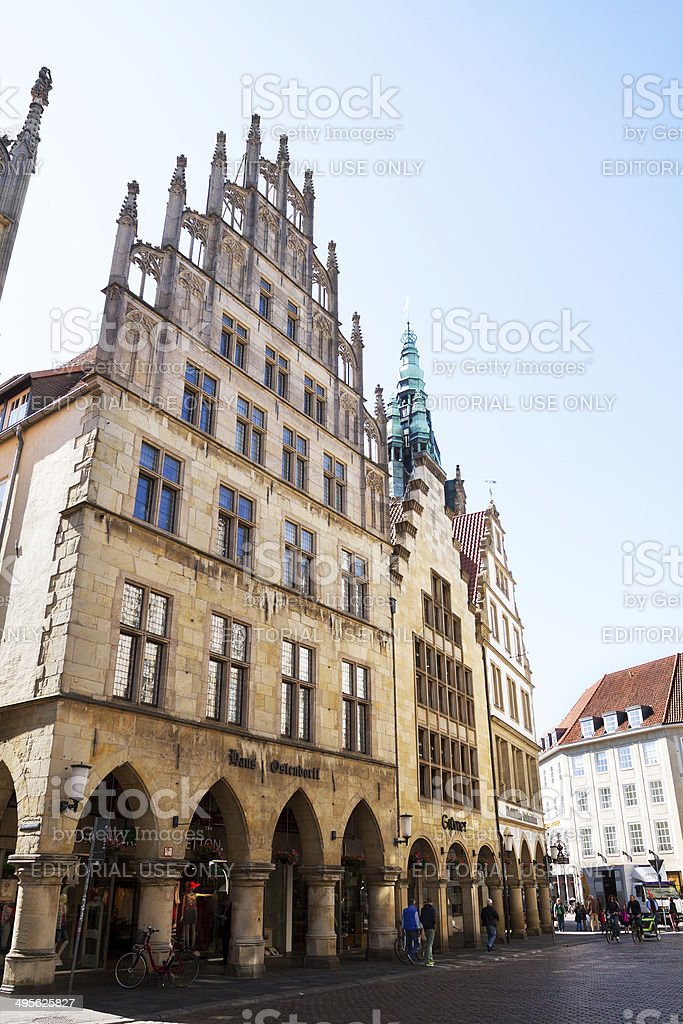 Late gothic buildings in Münster royalty-free stock photo