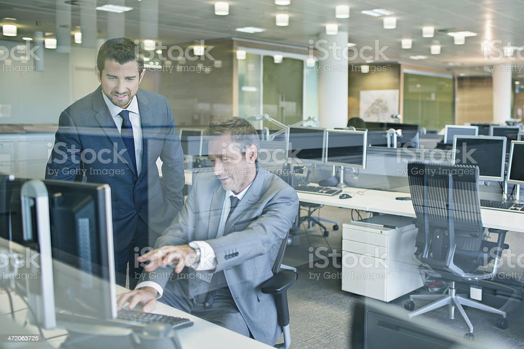 Late in the office stock photo