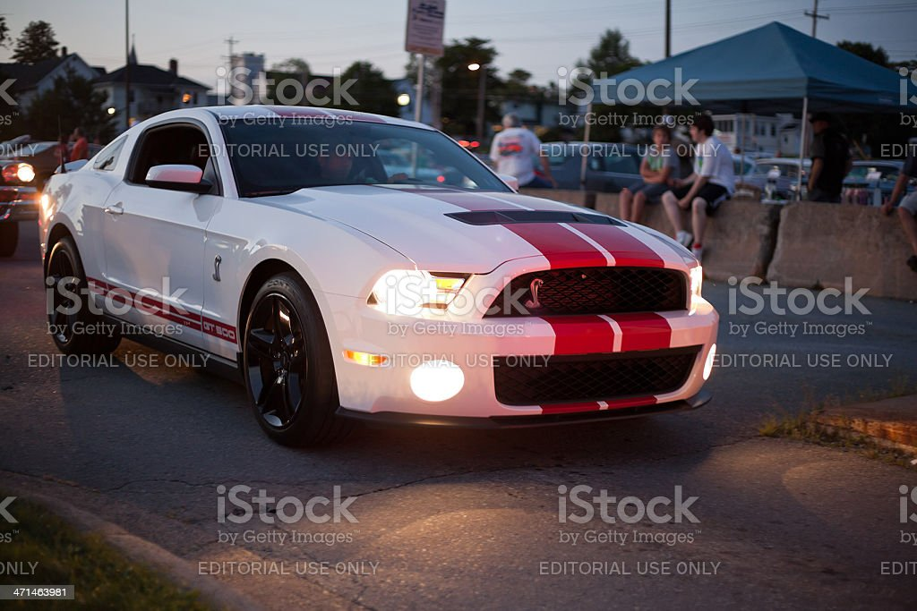 Late Model Shelby GT 500 stock photo