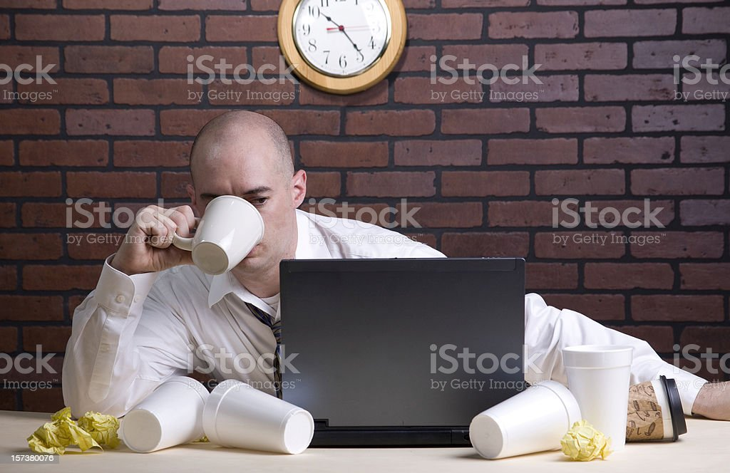 Late Night at the Office royalty-free stock photo