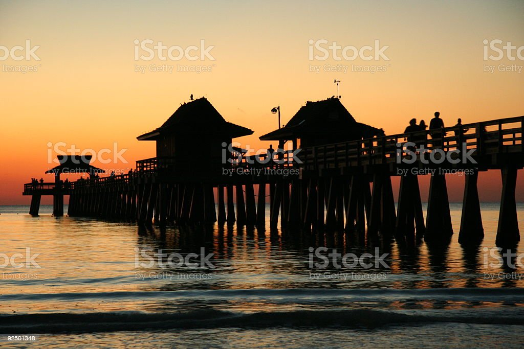 Late night at the pier royalty-free stock photo