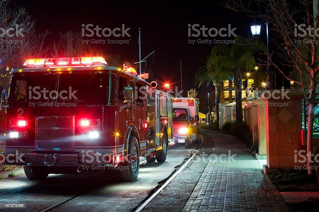 Late Night Emergency In The City royalty-free stock photo