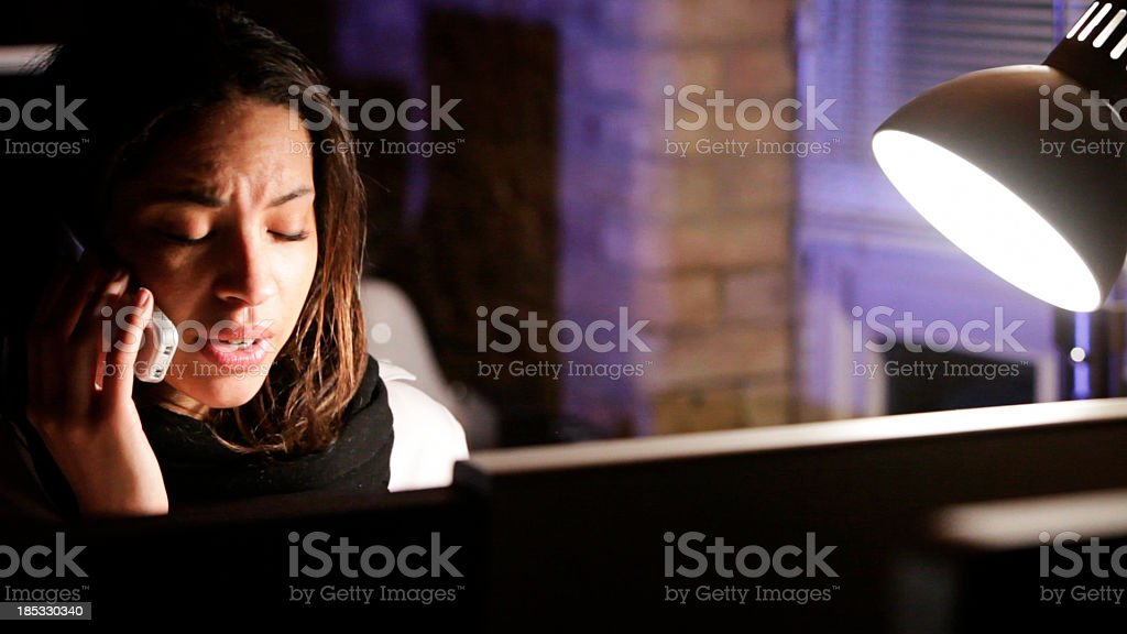 late night office stress royalty-free stock photo