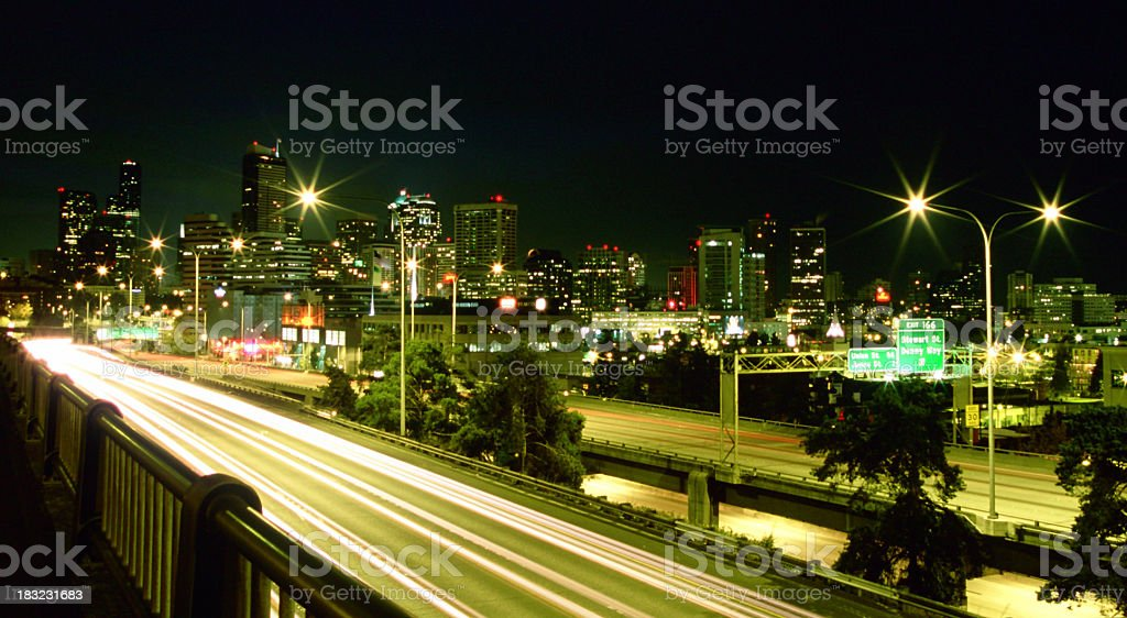 Late night traffic. royalty-free stock photo