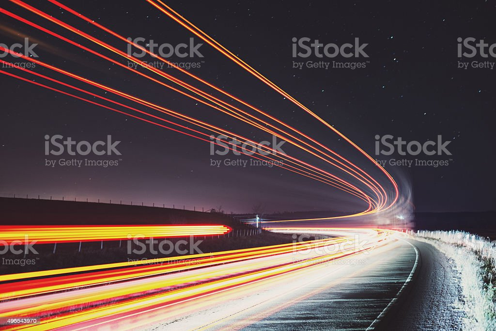 Late Night Traffic stock photo