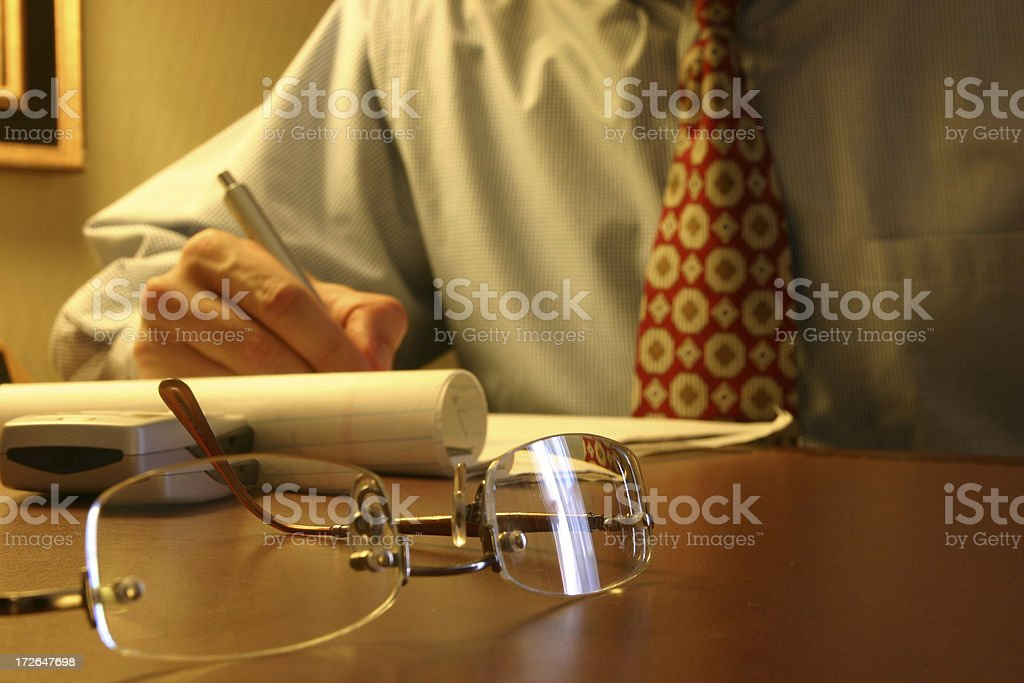 Late Night Worker royalty-free stock photo