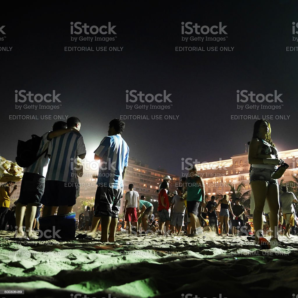 Late night World Cup party stock photo