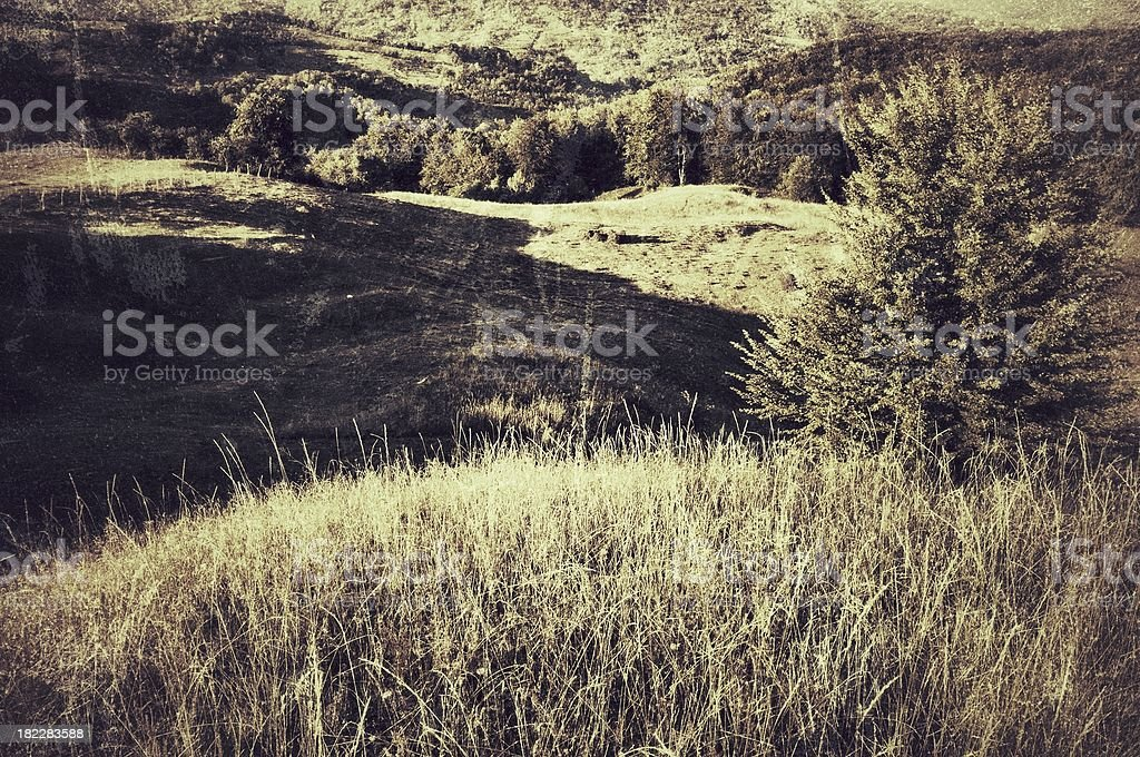 Late Summer Landscape (Vintage) royalty-free stock photo