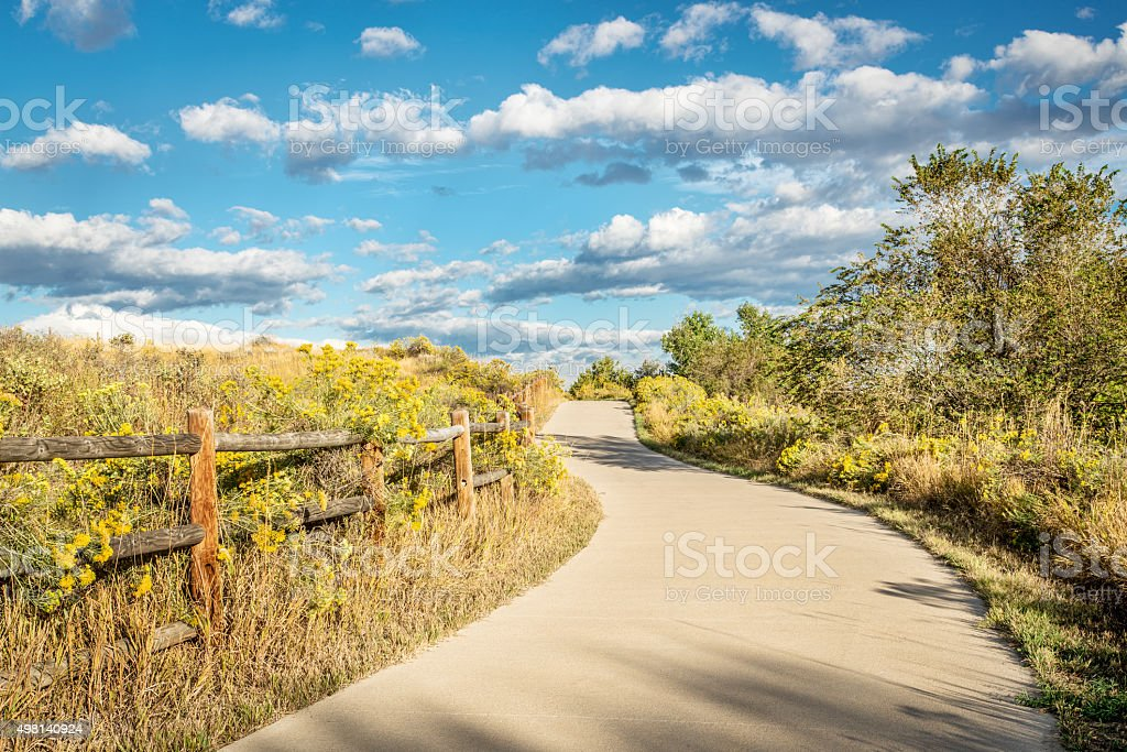 late summer on Poudre River Trail stock photo