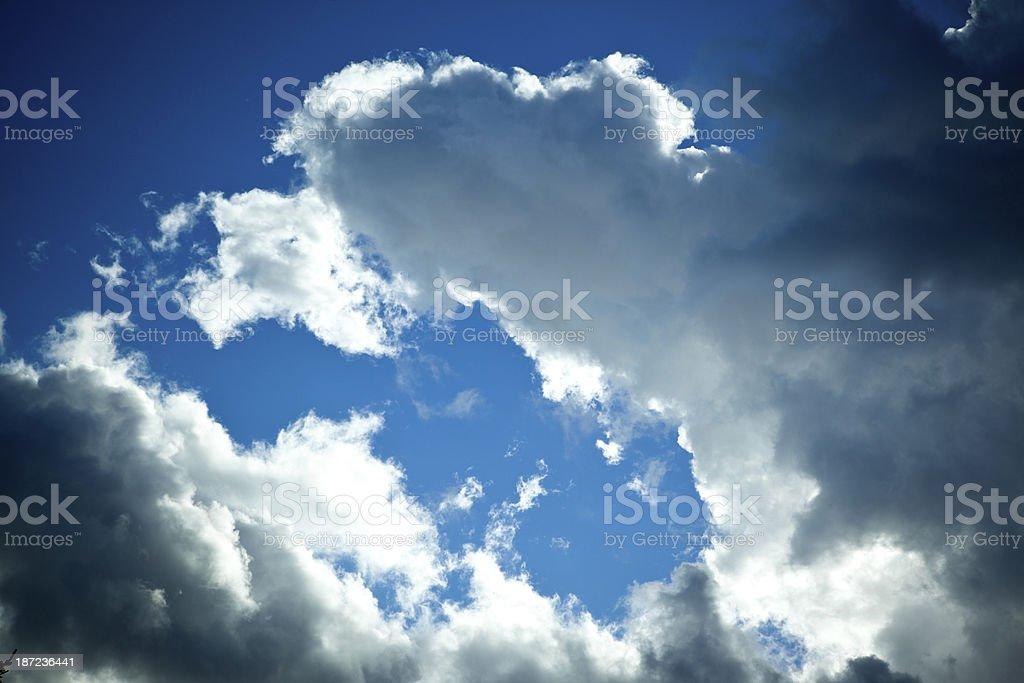 Late Summer Sky stock photo