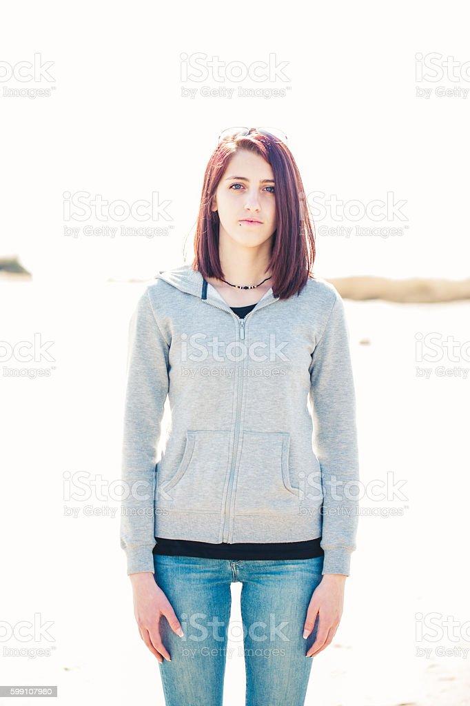 Late Teen portrait stock photo