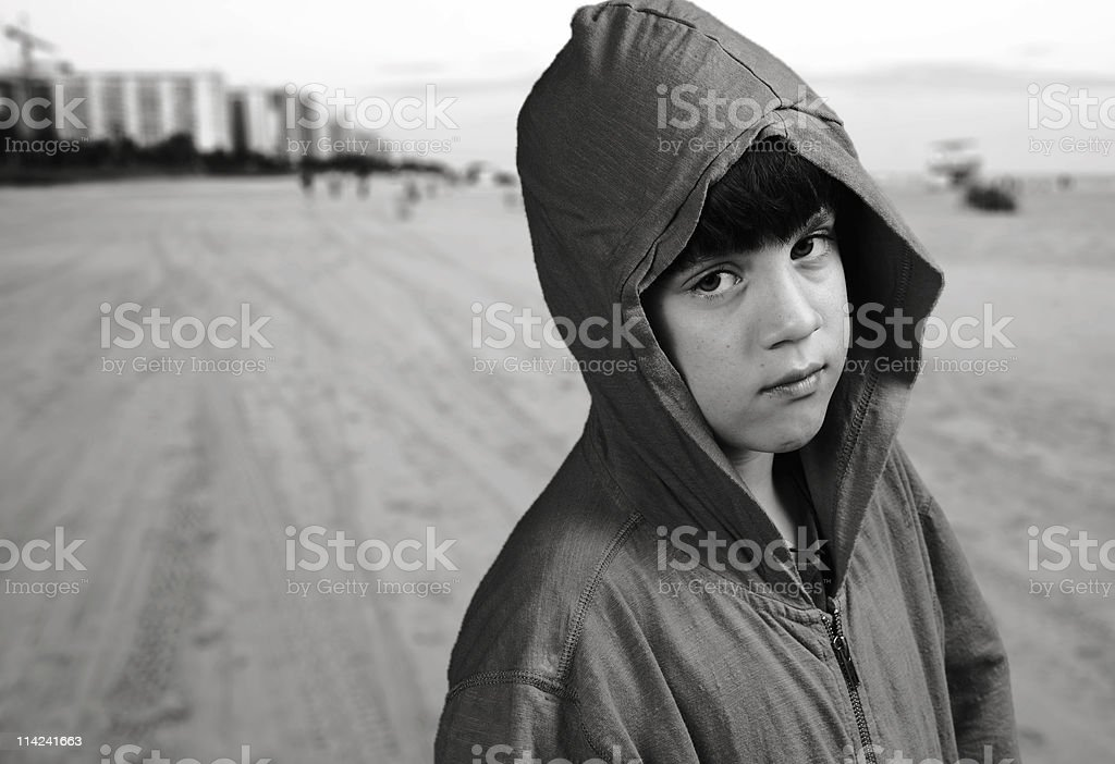 Late walk at the beach royalty-free stock photo