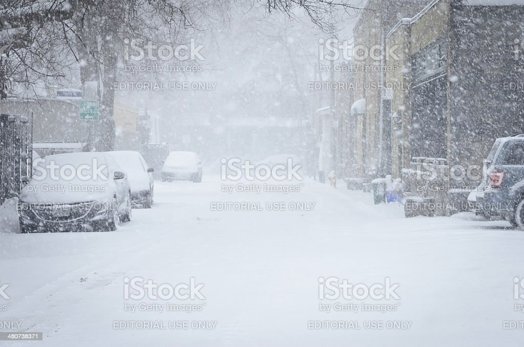 Late Winter storm royalty-free stock photo
