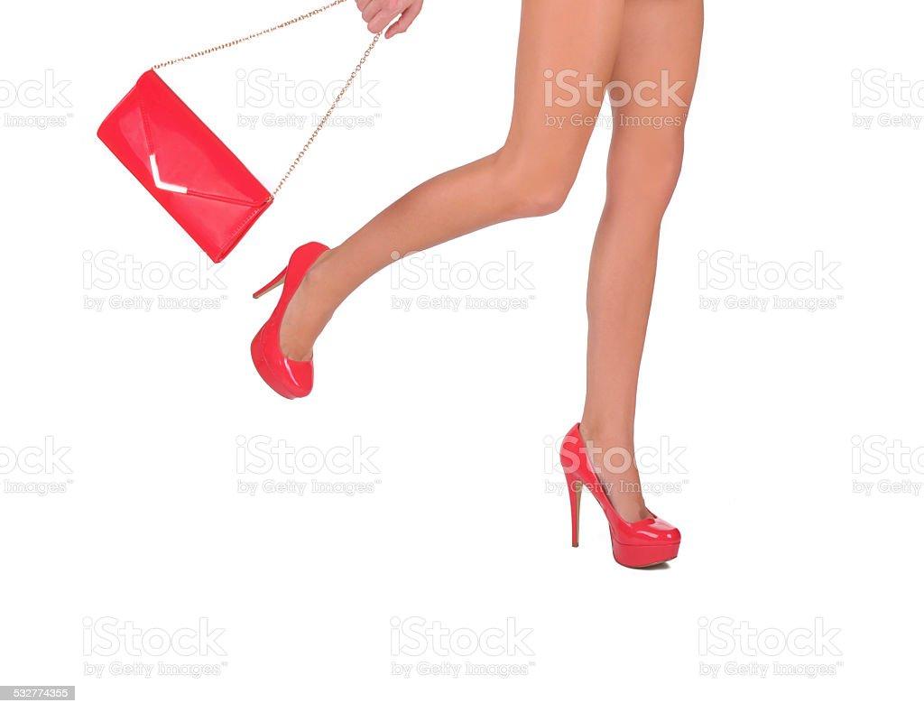 Late woman stock photo