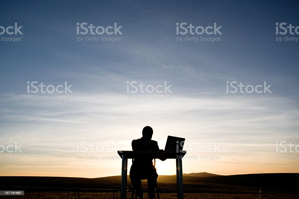 Late working royalty-free stock photo