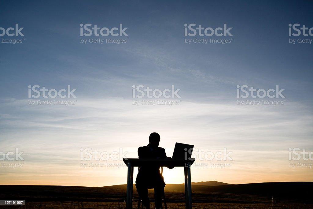 Late working stock photo