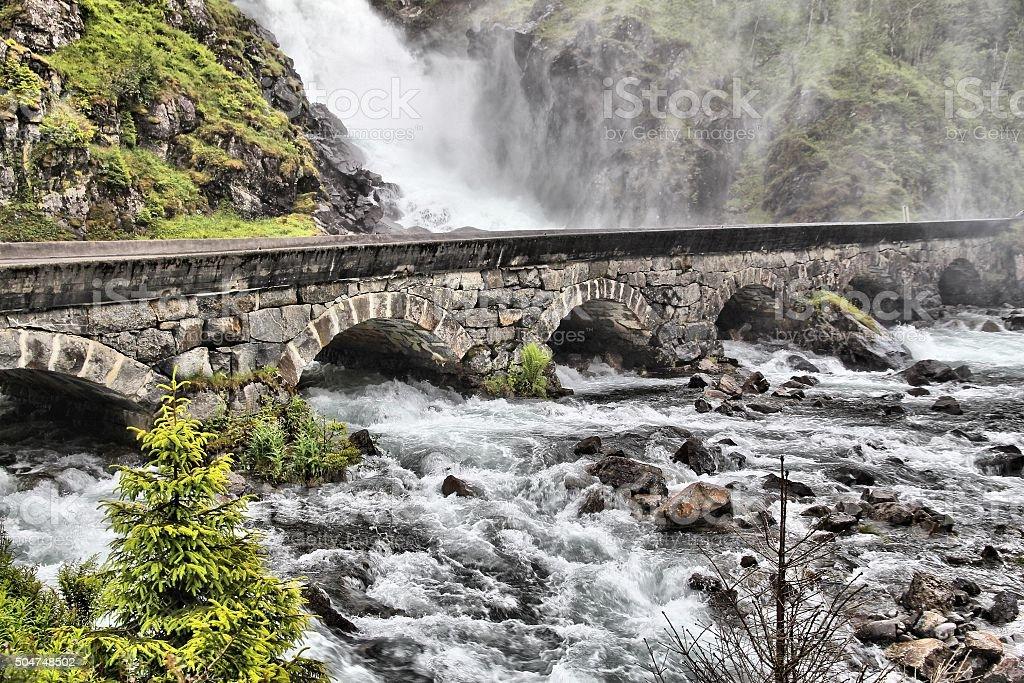 Latefossen, Norway stock photo