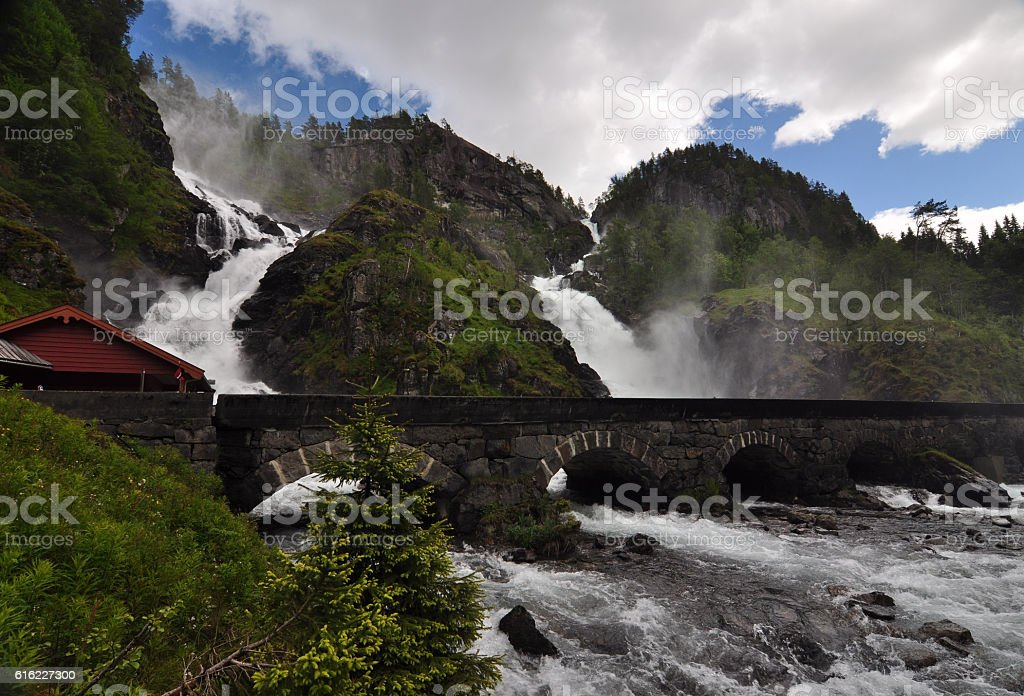 Latefossen, Norway stock photo