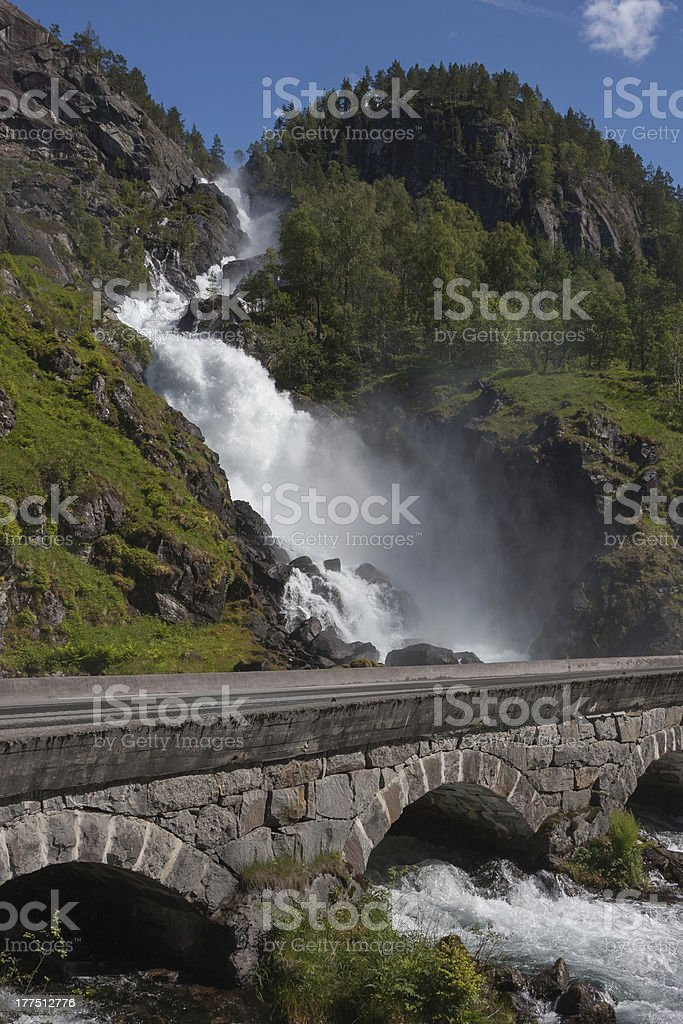 Latefossen (Odda, Norway) stock photo