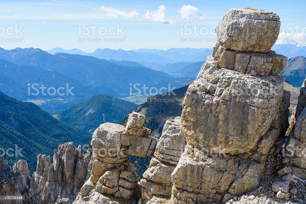 Latemar, Dolomites stock photo