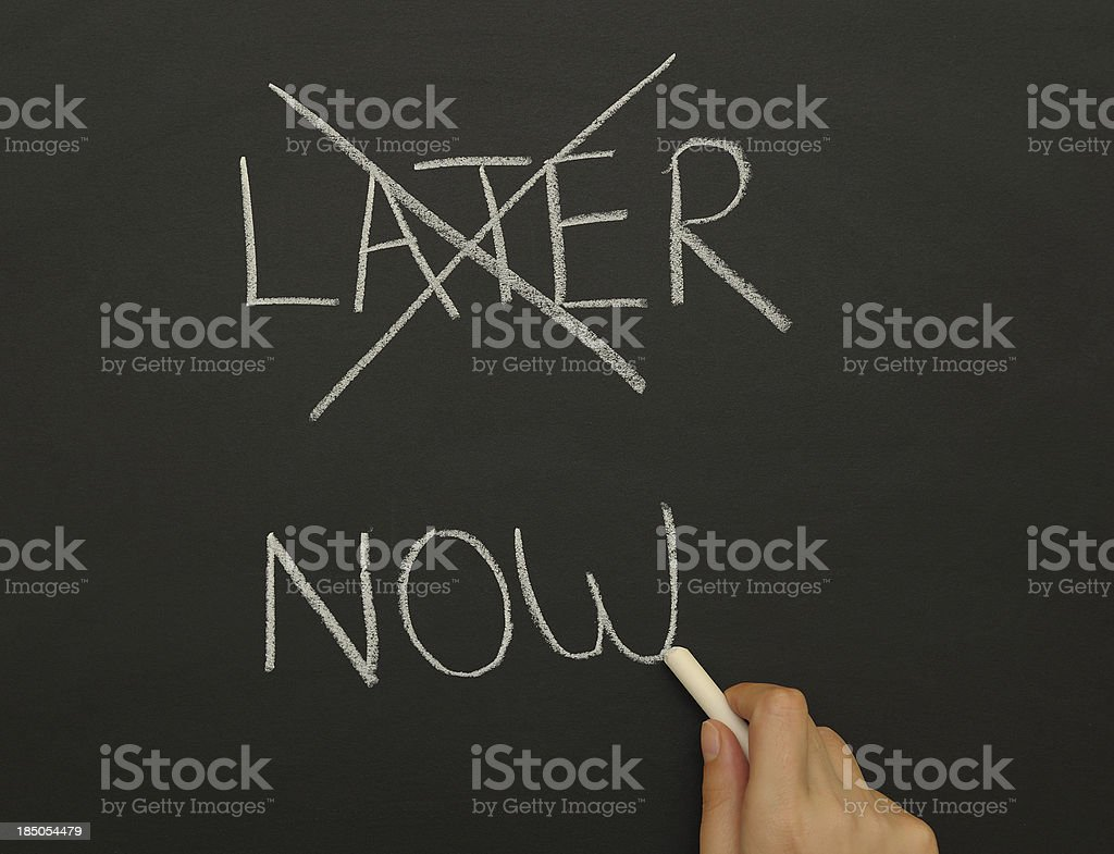 Later and now stock photo