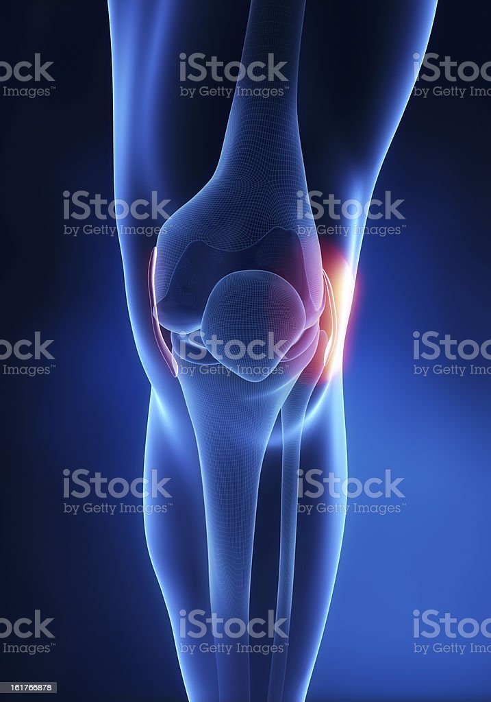 Lateral Collateral Ligament knee injury stock photo