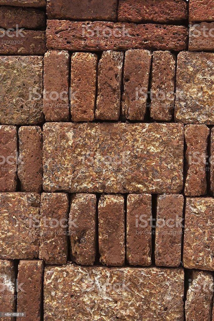Laterite bricks stock photo