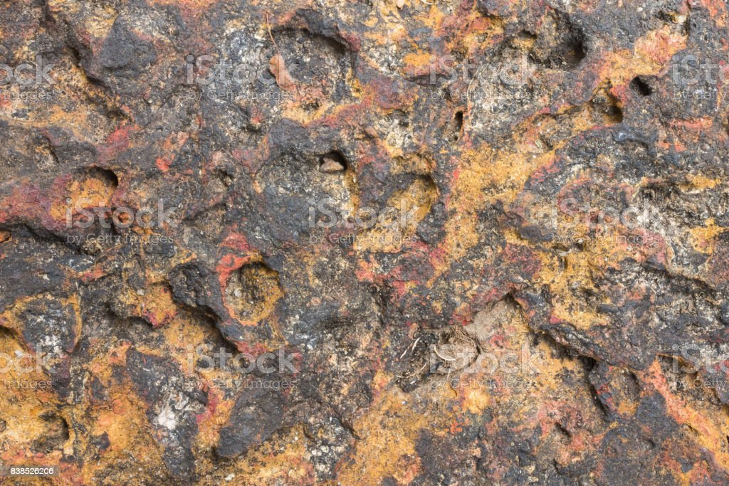 Laterite Stone Texture or Stone Background for Design. stock photo
