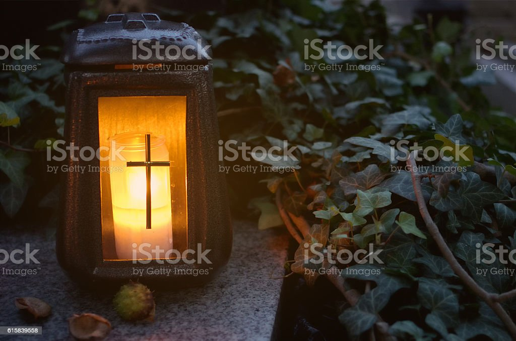 Latern and ivy. stock photo