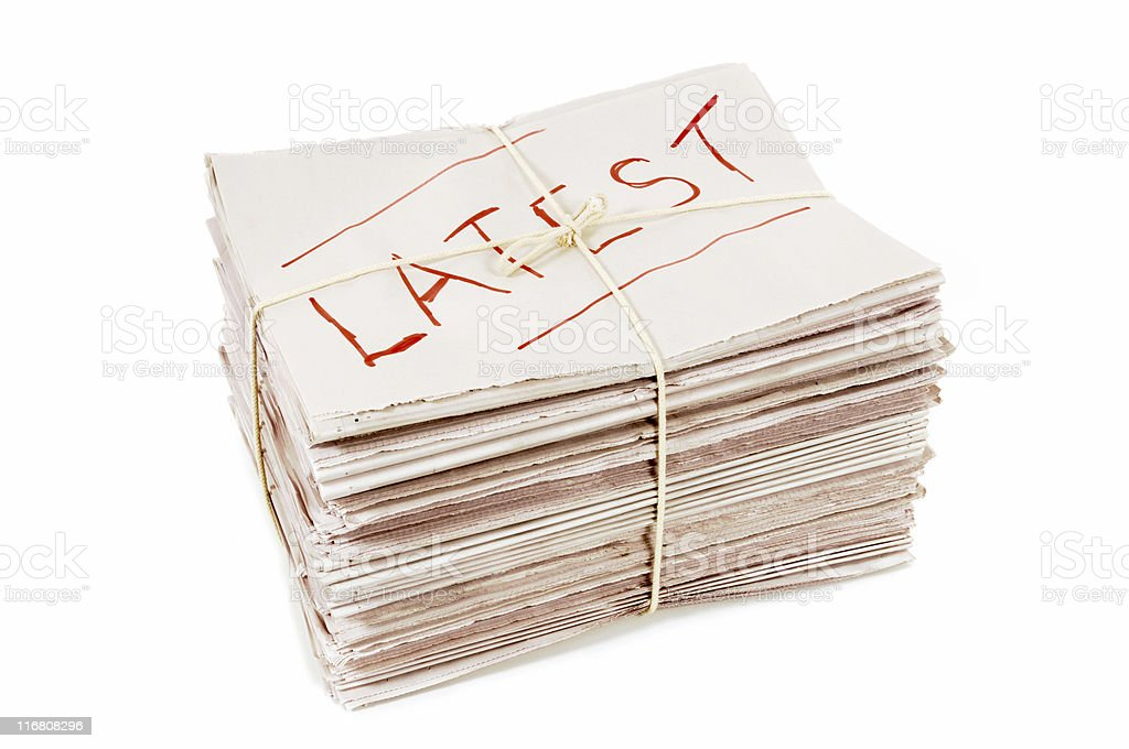 Latest edition newspapers royalty-free stock photo