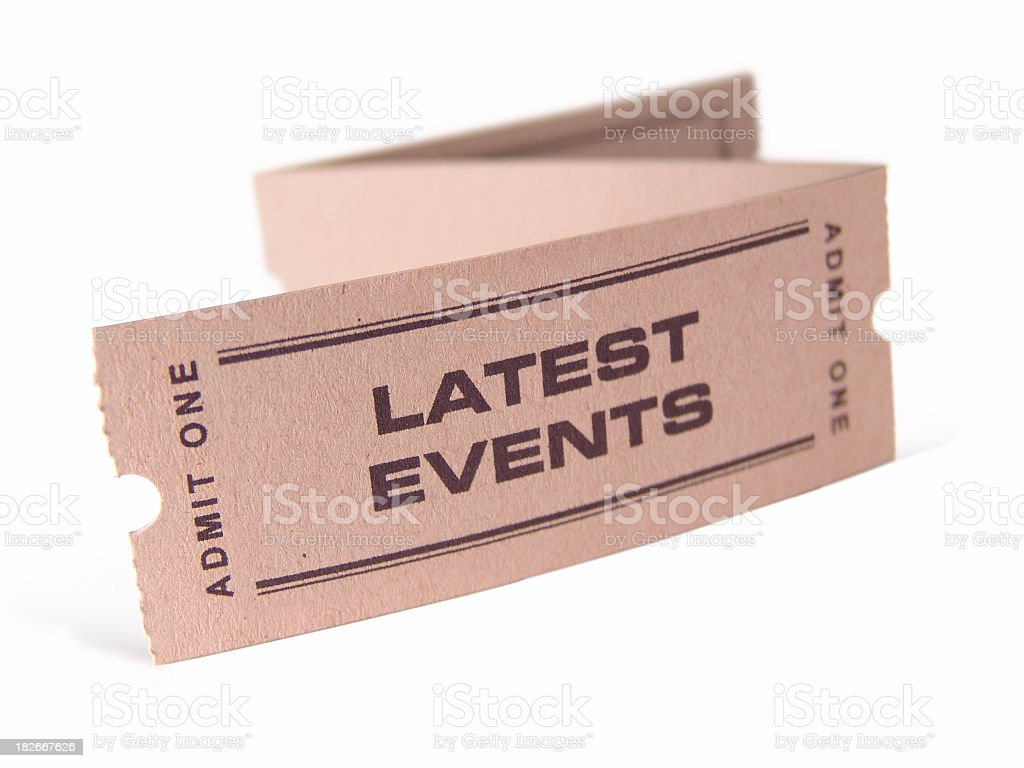 Latest Events Ticket royalty-free stock photo