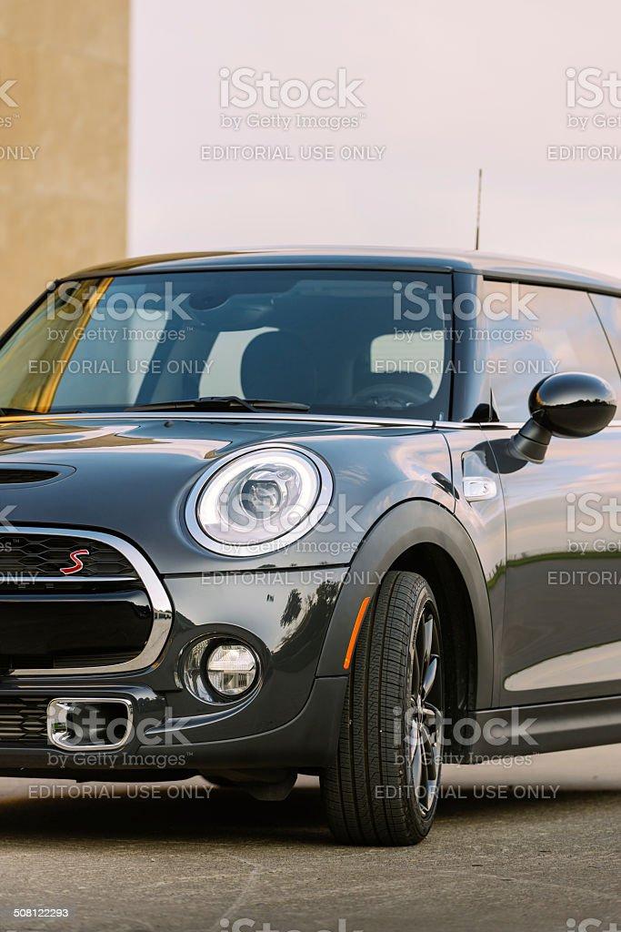 Latest generation Mini Cooper S royalty-free stock photo