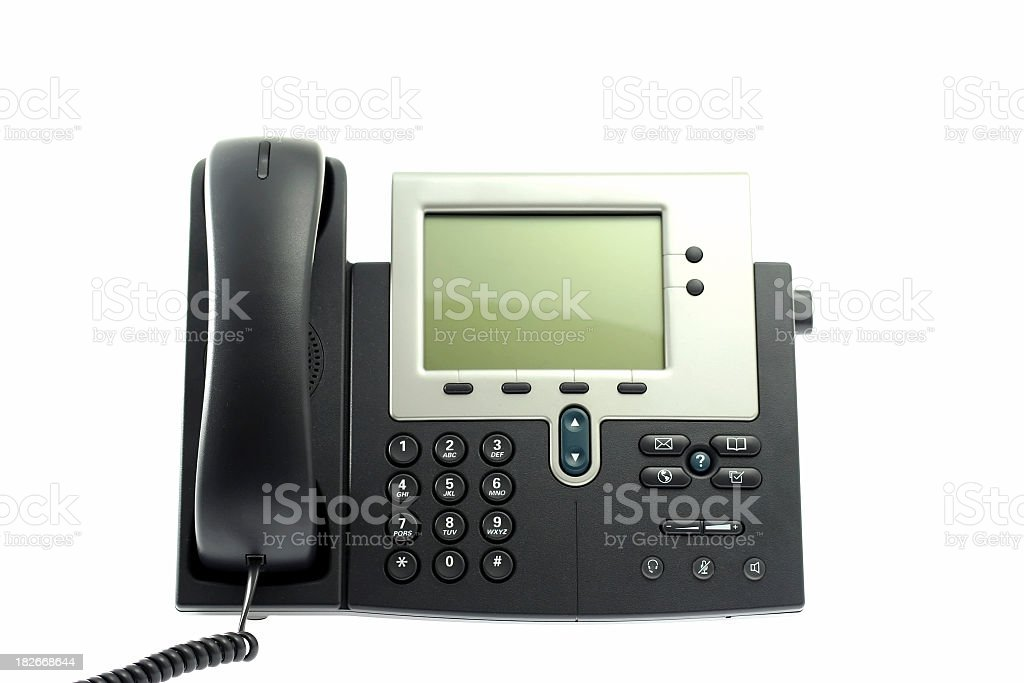 Latest IP phone royalty-free stock photo