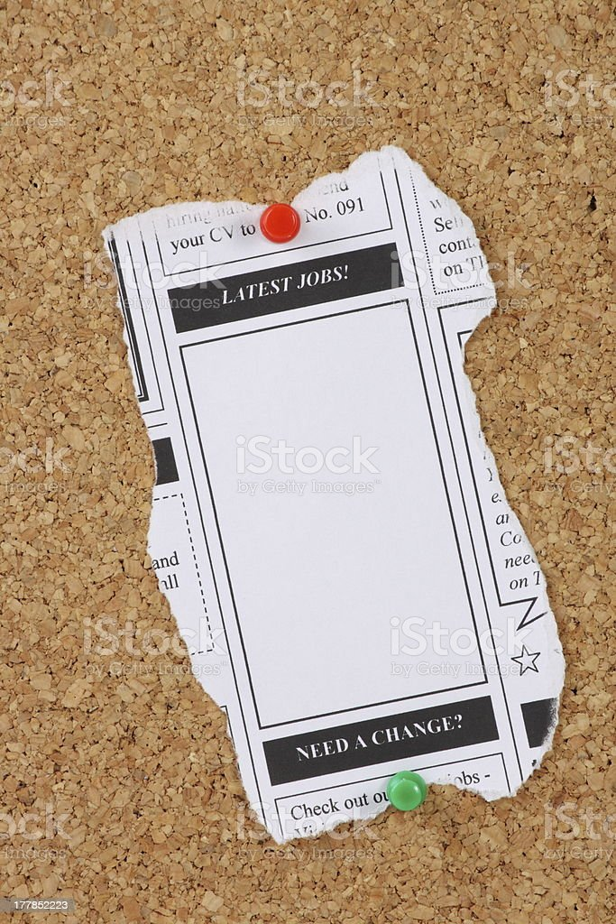 Latest Jobs Newspaper Clipping royalty-free stock photo