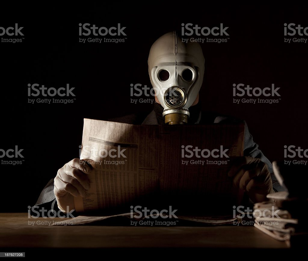 Latest news in a polluted environment stock photo